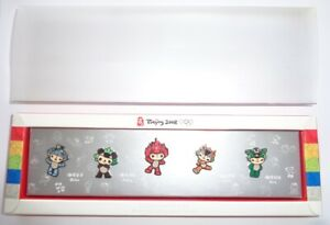 2008 Beijing Olympic Games Set of 5 Official Mascot Pins