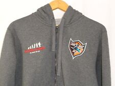 San Jose Sharks Reebok NHL Gray Full Zip Hoodie L Evolution Glace Ice NWOT