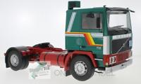 ++ Volvo F12  grün / weis Lkw AUF ACHSE LKW Sattelzug Road Kings 1:18 Modell ++