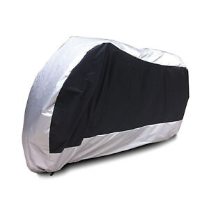 Motorcycle Motorbike Cover Waterproof UV Protective + Carry Bag L 220x95x110cm