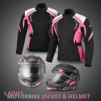 Motorbike Waterproof Racing Textile Jacket Ladies Motorcycle Road Race Helmet CE