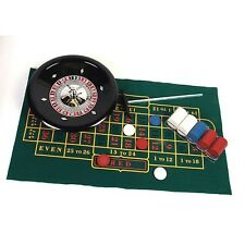 Roulette Set Casino Table Game 12in Bakelite Wheel Felt Layout Rake 100 Chips