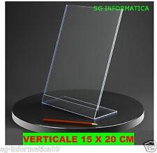 CORNICE ESPOSITORE IN PLEXIGLASS PORTAFOTO PORTA FOTO 15*20 CM 15 X 20 PLASTICA