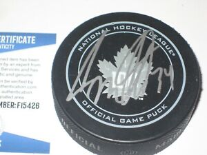 AUSTON MATTHEWS Signed Toronto MAPLE LEAFS 100 Official GAME Puck + Beckett COA