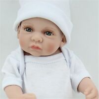 "10"" Reborn Baby Boy Dolls Lifelike Full Silicone Vinyl Handmade Birthday Gifts A"