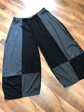 myo- Lagenlook 3 D Pantalone in jersey schwarz-antra Taglia unica 82 CM GIROVITA