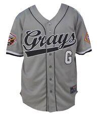 NLBM Mens Homestead Grays Baseball Jersey Gray