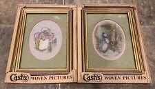 "Two Vintage Cash's Beatrix Potter Framed Pictures 4"" x 5 1/2"" In Boxes!"