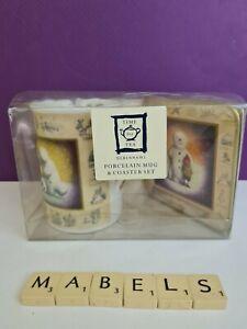 CLOVERLEAF DEBENHAMS  ~SNOWMAN~ mug & coaster gift set