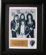 Queen Preprinted Autograph & Guitar Pick Display Mounted & Framed #2