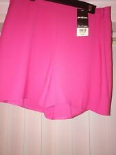 New Lovely Miss Selfridge Hot Pink Festival 50s Pin Up  Shorts Size 10-12