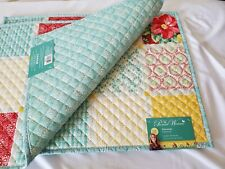 The Pioneer Woman Set of 2 Patchwork Quilted Placemats Country Chic Reversible