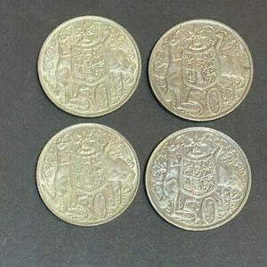 1966 Round 50 Cent Australia Silver coin Excellent condition