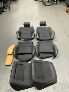 BMW E46 3 series Coupe Saloon Convertible Half Leather FRONT Seat Cushions PAIR