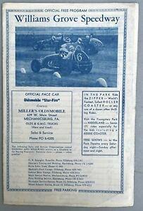 Old Orig Williams Grove Speedway Program Mario Andretti A J Foyt 1950s Very Rare