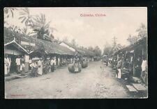 Ceylon Sri Lanka COLOMBO Village street scene beer/wine barrels c1900/10s? PPC