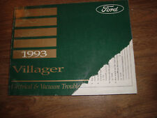 1993 Ford Villager Electrical Vacuum Troubleshooting Manual MWI