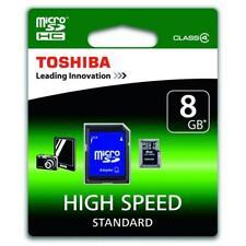 Toshiba - 8GB microSDHC Class 4