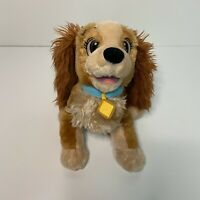 "Disney Store Lady And the Tramp Medium Stuffed Animal Plush Bean Filled 12"""