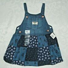 Oshkosh Denim Patchwork Jumper Dress Vestbak 18 Months...