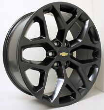 New 22 inch Chevy Black Snowflake Wheels Rims Silverado Tahoe Avalanche