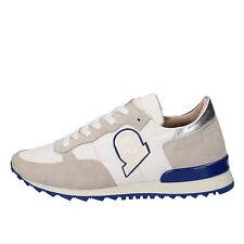 scarpe donna INVICTA 37 EU sneakers bianco camoscio tessuto AB57-C