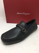 $595 New Salvatore Ferragamo Mens Black Shoes 'Granprix ' Size 8 US 7 UK 41 EU