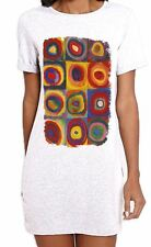 Kandinsky Colour Study Concentric Circles Large Print Womens T-Shirt Dress