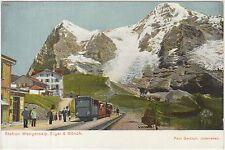 STATION WENGERNALP, EIGER & MONCH - STAZIONE FERROVIARIA (SVIZZERA) 1906