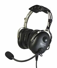 SkyLite SL-900H Aviation Helicopter Pilot GEL Headset +free Bag - Black Colours