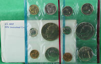 1976 P and D United States Mint Uncirculated 12 Coin Set BU