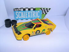 SCALEXTRIC EXIN C-4055 LANCIA STRATOS HF #8 YELLOW  1º SERIE  EXC. CONDICION