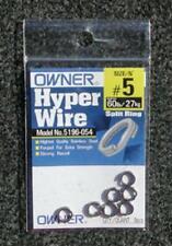 Owner 5196-054 Black Chrome Split Rings - Size 5 - 60lb Test Pack of 9