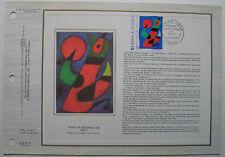 MIRO  Feuillet CEF Timbre 1er jour SOIE - 1974