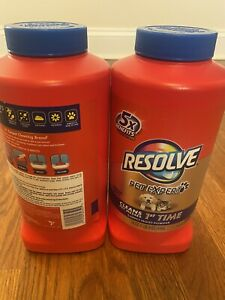 --- Resolve Carpet Cleaner Powder, (2) 18oz Bottles ---