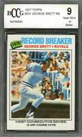 George Brett Card 1977 Topps #231 Kansas City Royals BGS BCCG 9