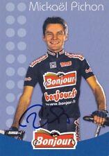 CYCLISME carte cycliste MICHAEL PICHON équipe BONJOUR.Fr 2002 signée