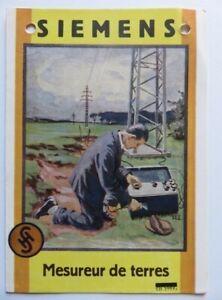 300 - Pub Siemens & Halske - Mesureur de terres - Ancien - Pub signée R.E.