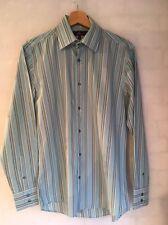 "NEXT Men's Size 15"" 38cm Stripe Long Sleeve Shirt 21"" Armpit <L4297"