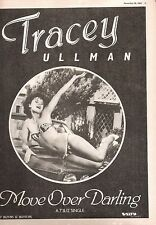 TRACEY ULLMAN Move Over Darling 1983 magazine ADVERT/Poster/clipping 11x8 inches