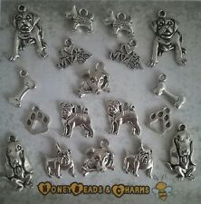 ❤ Dog Themed Charms ❤ Set of 18 ❤ CRAFTING/JEWELLERY MAKING ❤