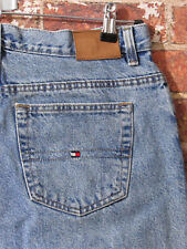 VTG Tommy Hilfiger sz 14 Mom Jeans Denim Box Logo Boyfriend Light High Waisted