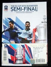 Chelsea v Manchester City   FA Cup Semi  Final  & Ticket   14-4-2013    vgc