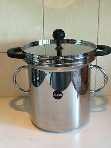 ALESSI Italy Pot / Saucepan + Strainer + Lid - Pasta / Veg / Asparagus / Noddles