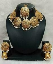 Indian Coin Bollywood Gold Plated Jewelry Set Ethnic Traditional Temple Necklanb