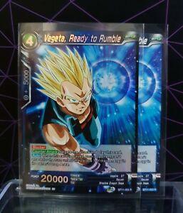Dragon Ball Super CCG/ x2 Vegeta, Ready To Rumble 1xFoil1xR  BT11-053 R