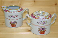"Spode Lord Calvert Y5351 Creamer, 3 3/8"" & Sugar Bowl, 3 1/8""  with Matching LId"