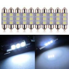 10X AUTO INTERNO SILURO LAMPADINE T11 36mm 3 LED 5050 SMD LUCE BIANCO DC 12V