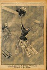 Paris incendie du Théâtre-Français Comédie-Française pompiers de Adeline 1900