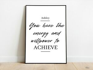 Personalised Positive Affirmation Art Prints Wall Art A3/A4/A5 Posters Gift Idea